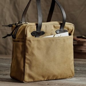Filson Rugged Twill Tote in tan.